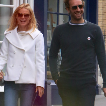 EXCLUSIVE: Gwyneth Paltrow and Chris Martin seen on a rare outing together with their children