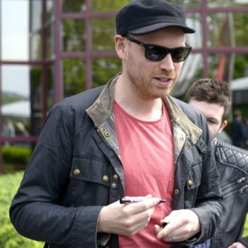 Coldplay leave the Hyatt Regency Cologne Hotel