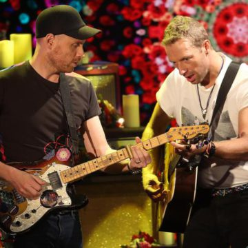 Coldplay at Italian television show
