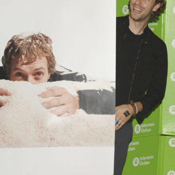 Chris Martin Launches Oxfam Campaign