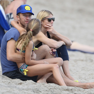 Exclusive… Gwyneth Paltrow & Chris Martin Spend Valentine's Day At The Beach With Their Kids