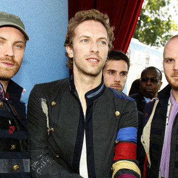 File photo of British band Coldplay arriving at 2008 MTV Movie Awards in Los Angeles